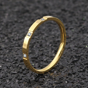 stainless steel material Rose Gold Steel color Ring