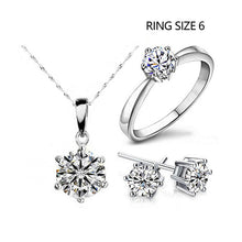 Load image into Gallery viewer, Necklace & Earrings Rings Wedding Jewelry Set