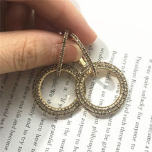Load image into Gallery viewer, round Gold and silver earrings
