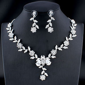 Classic Bridal Jewellery Sets for Women's Dresses Accessories