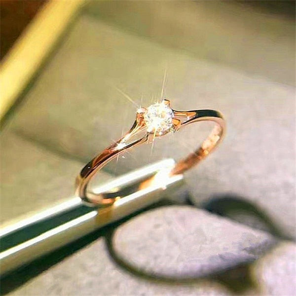 Crystal Zircon Stone Engagement Rings For Women
