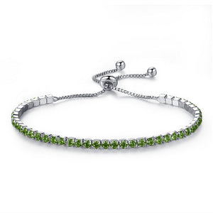 Snake Chain Shiny Rhinestone Bracelet for Female