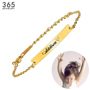 Gold Color Charm Children Bracelets