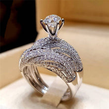 Load image into Gallery viewer, Sliver Color Wedding  female ring