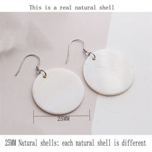 Load image into Gallery viewer, Round Shell Pendant  drop earrings for women