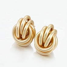 Load image into Gallery viewer, Gold Silver Drop Earrings For Women