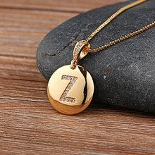 Load image into Gallery viewer, Letter Necklace Gold 26 Letters