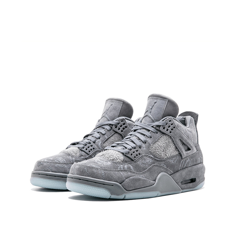 03bb26cb2f19 KAWS x Air Jordan 4 Cool Grey Men s Basketball Shoes - Guzzo88