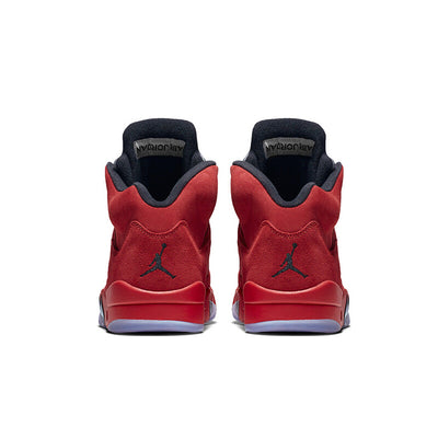 reputable site 62552 d06ea Air Jordan 5 red Suede AJ5 Men's Basketball Shoes Sports Sneakers