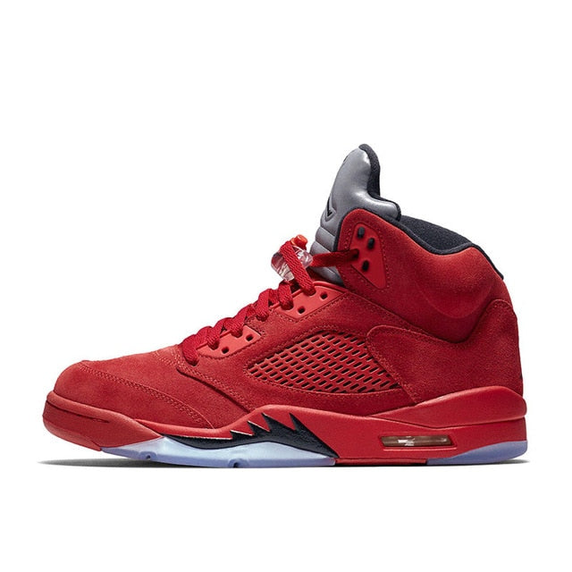 fb87df8cd47514 Air Jordan 5 red Suede AJ5 Men s Basketball Shoes Sports Sneakers ...