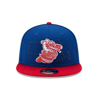 Lowell Spinners New Era Mass Outline 9Fifty Snap Back Cap