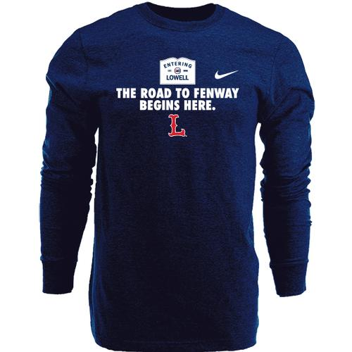 Lowell Spinners L/S Road to Fenway Tee