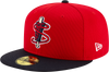Lowell Spinners New Era Red/Navy BP 59Fifty Cap