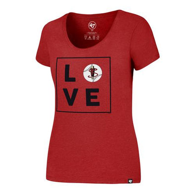 Lowell Spinners '47 Women's Red Love Tee