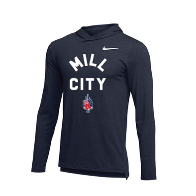 Lowell Spinners Nike Mill Sox DriFit Hoodie