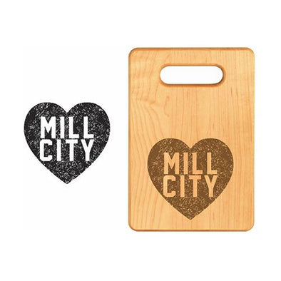 Lowell Spinners Mill City Heart Cutting Board