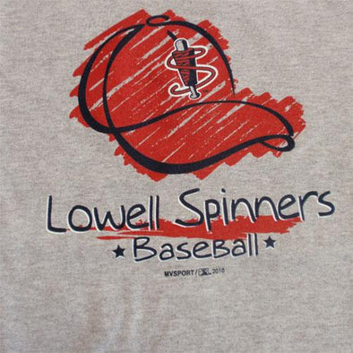 Lowell Spinners Youth Grey Cap Tee