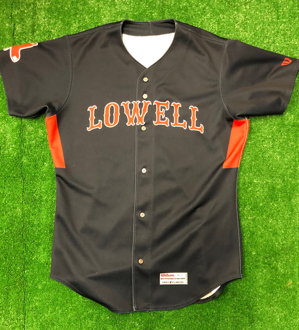 Lowell Spinners 2017-18 Game Worn Away Jersey