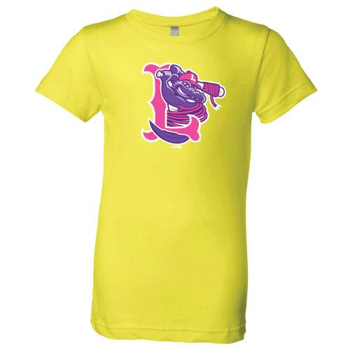 Lowell Spinners Youth Neon Gator Tee