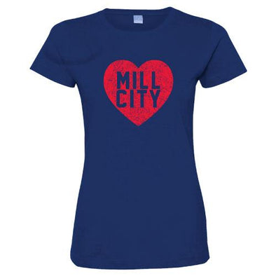 Lowell Spinners Women's Mill City Heart Tee