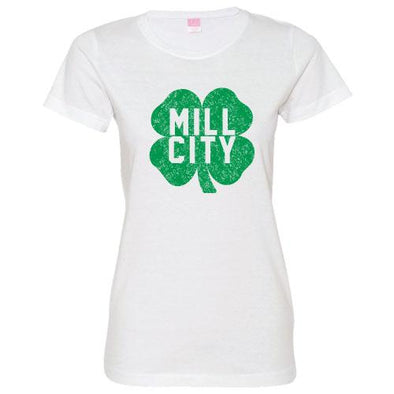 Lowell Spinners Women's Mill City Shamrock Tee