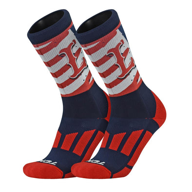 Lowell Spinners Flag Socks