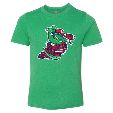 Lowell Spinners Youth Kelly Green Gator Tee