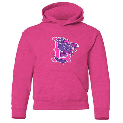 Lowell Spinners Youth Vintage Hot Pink Hooded Sweatshirt