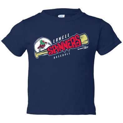 Lowell Spinners I/T Navy Bat Tee