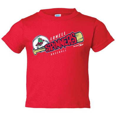 Lowell Spinners I/T Red Bat Tee