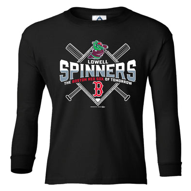 Youth Spinners/Sox Long Sleeve Tee
