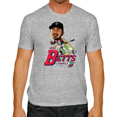 Lowell Spinners Mookie Caricature Tee