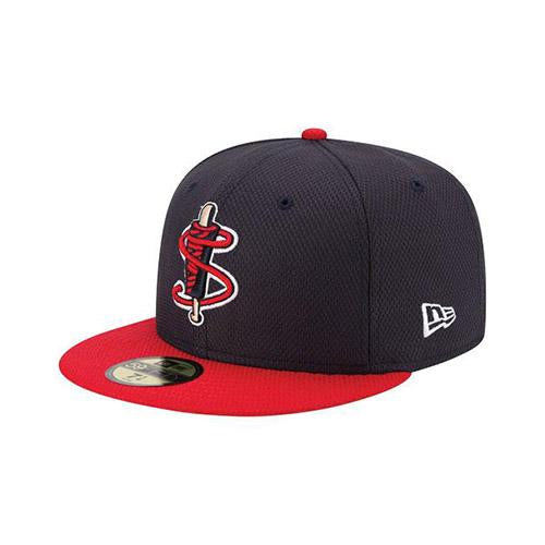 Lowell Spinners New Era Navy/Red BP 59Fifty Cap