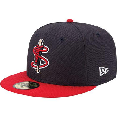 Lowell Spinners New Era Youth Navy/Red BP 59Fifty Cap