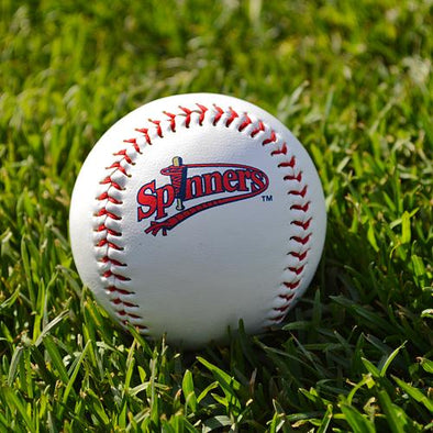 Lowell Spinners White Vintage Logo Baseball