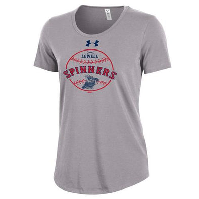 Lowell Spinners Women's UA Grey Gator Tee