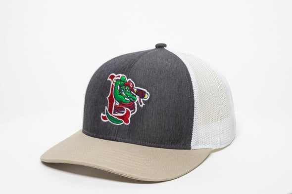 Lowell Spinners Grey/Tan Trucker Cap