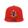 Lowell Spinners New Era All Red Home 59Fifty Cap