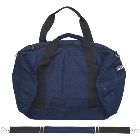 100% HEMP CANVAS DUFFLE BAG - NAVY BLUE