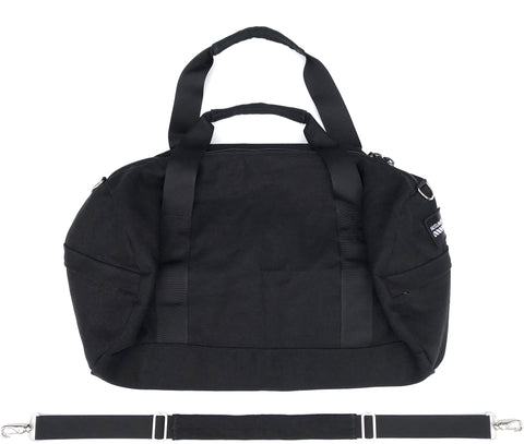 100% HEMP CANVAS DUFFLE BAG - BLACK