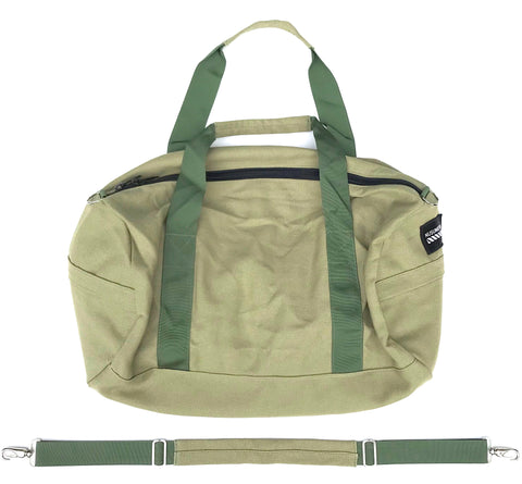100% HEMP CANVAS DUFFLE BAG - OLIVE DRAB (FREE U.S.A. SHIPPING)