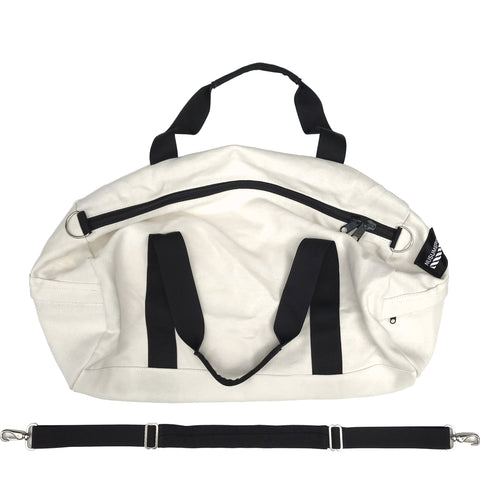 100% RAW HEMP CANVAS DUFFLE BAG - NATURAL / OFF-WHITE (FREE U.S.A. SHIPPING)