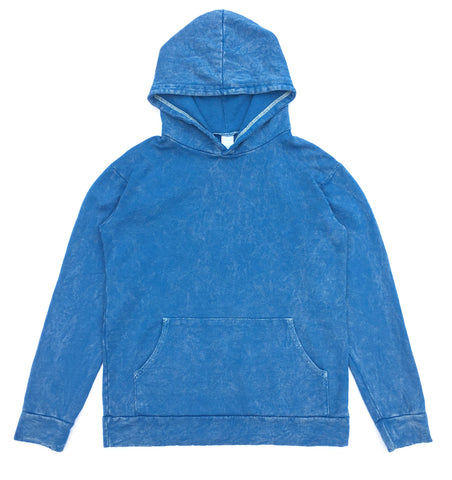 HEMP HOODIE - GREEK BLUE - VINTAGE WASH (FREE U.S.A. SHIPPING)