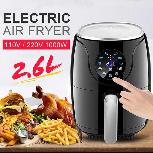 2.6L Multifunction Air Fryer Chicken Oil free Air Fryer Health Fryer Cooker Oven Low Fat Smart Touch LCD Electric Deep Airfryer