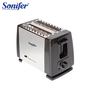 2 Slices Stainless steel toaster Automatic Fast heating bread toaster Household Breakfast maker Sonifer