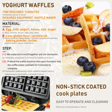 Load image into Gallery viewer, 750W Electric Waffles Maker Iron Sandwich Maker Machine Bubble Egg Cake Oven Breakfast Waffle Machine 220V Sonifer