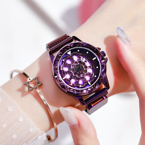 Tiktok HOT sell  ladies luck turn watches full star douyin two e-commerce hot style ladies net red diamond ladies watch