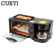 Load image into Gallery viewer, 3 In 1 Electric Breakfast Machine Multifunction Coffee maker frying pan mini oven