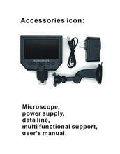 "Load image into Gallery viewer, 1-600x Digital Electronic Microscope Portable 3.6MP VGA Microscopes 4.3""HD LCD Pcb Motherboard Repair Endoscope Magnifier Camera"