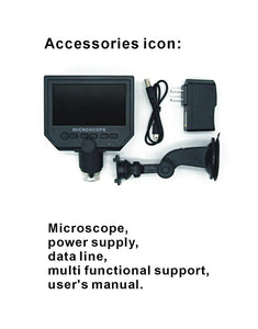 "1-600x Digital Electronic Microscope Portable 3.6MP VGA Microscopes 4.3""HD LCD Pcb Motherboard Repair Endoscope Magnifier Camera"
